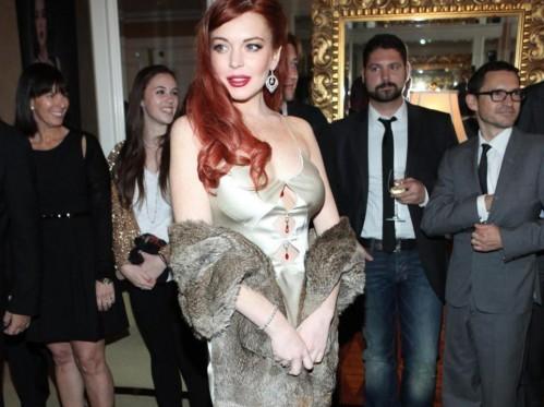 "Lindsay Lohan alla prima di ""Liz & Dick ""01"