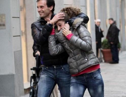 Massimiliano Allegri scherza con la figlia Valentina04