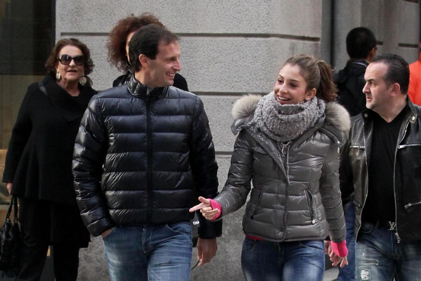 Massimiliano Allegri scherza con la figlia Valentina01