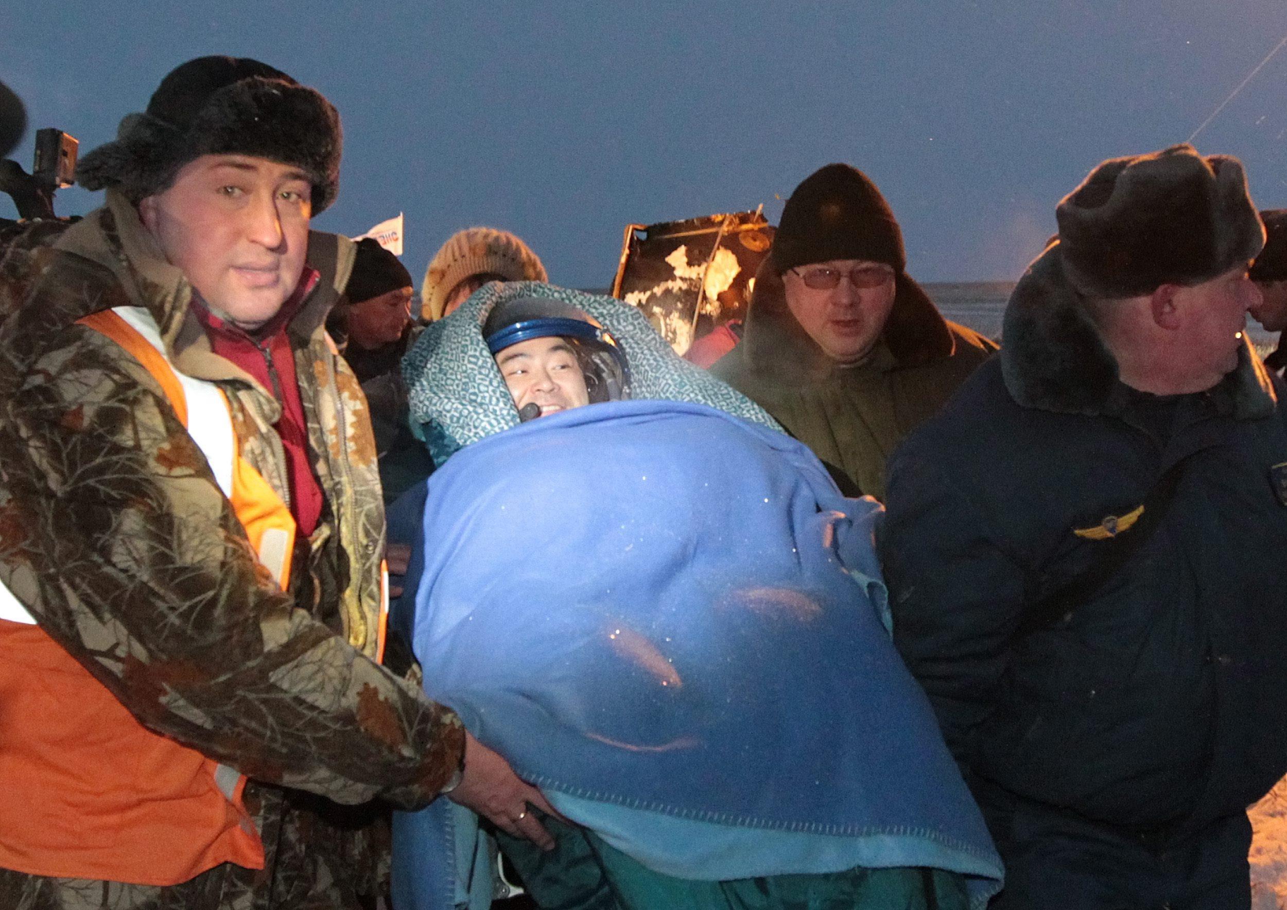 Landing of Soyuz 0