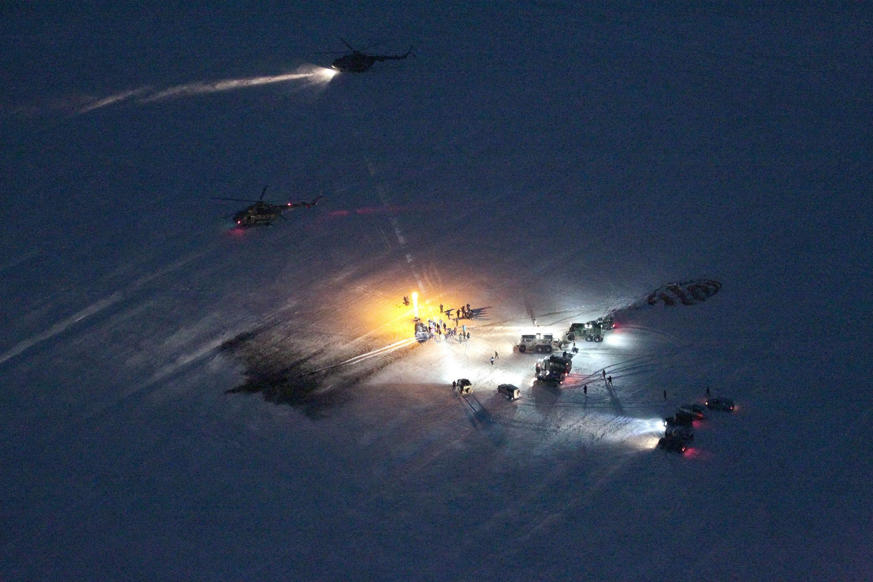 Landing of Soyuz 04