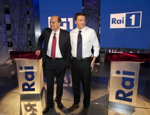 confronto Bersani Renzi