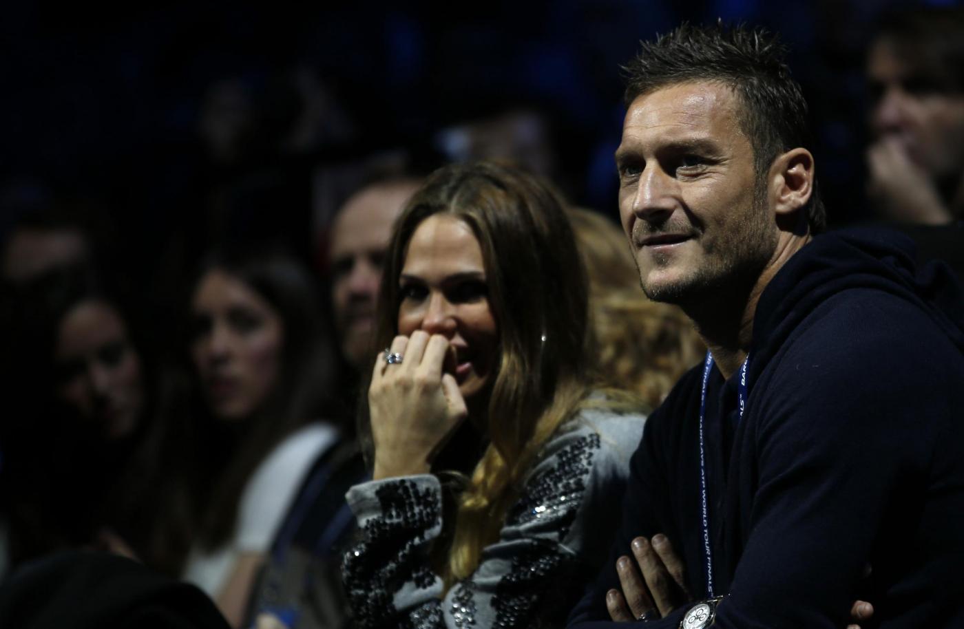 Londra, Totti e Ilary in tribuna agli ATP