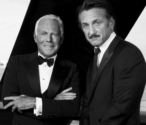 Giorgio Armani e Sean Penn