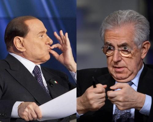 Silvio Berlusconi e Mario Monti