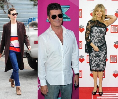 January Jones, Simon Cowell e Goldie Hawn