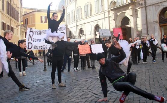 Accademia di danza, flash mob a Roma 01