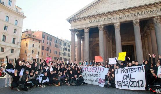 Accademia di danza, flash mob a Roma 03