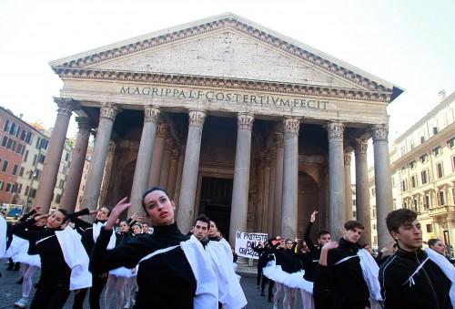 Accademia di danza, flash mob a Roma 05