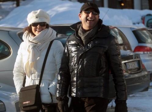 Carlo Conti con la moglie Francesca Vaccaro a Courmayeur02