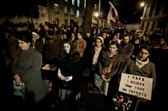 Manifestazione anti nozze gay, Parigi05