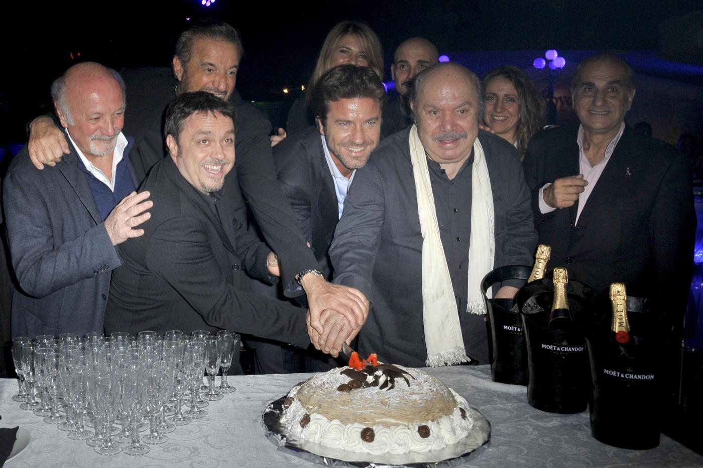 Roma, Compleanno di Paolo Conticini all'Art Cafè di Villa borghese02