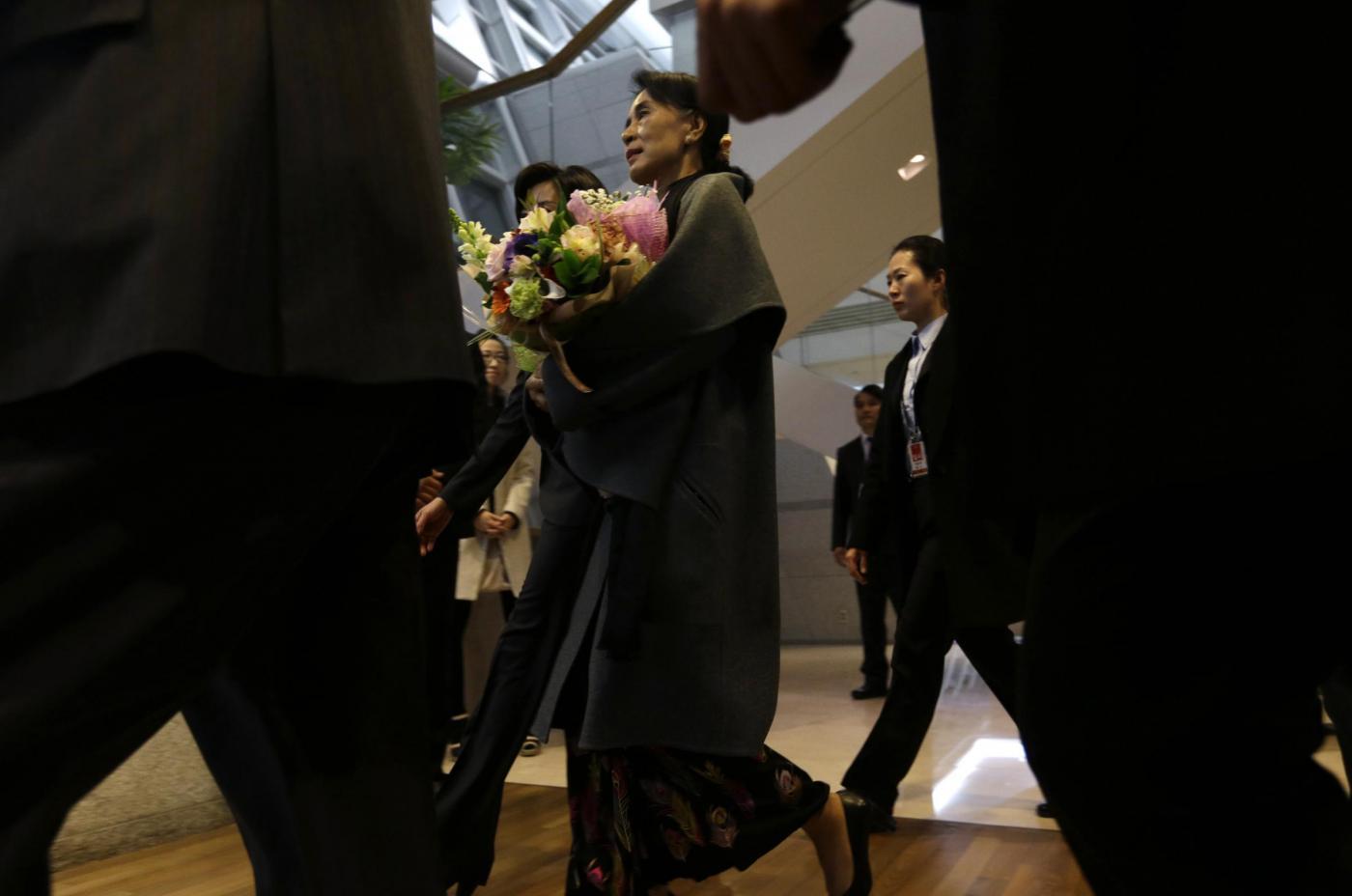 Aung San Suu Kyi in visita in Corea del sud04
