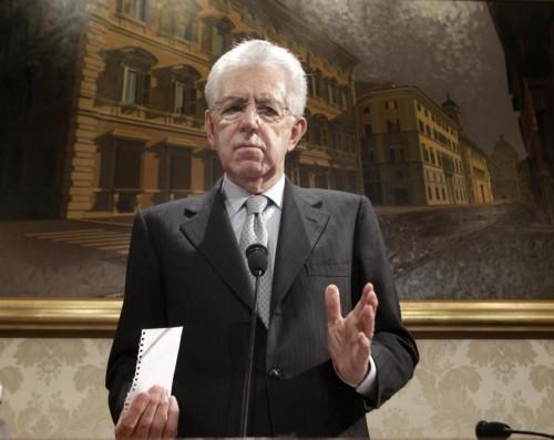 Mario Monti voti governo