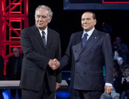 Silvio Berlusconi e Michele Santoro