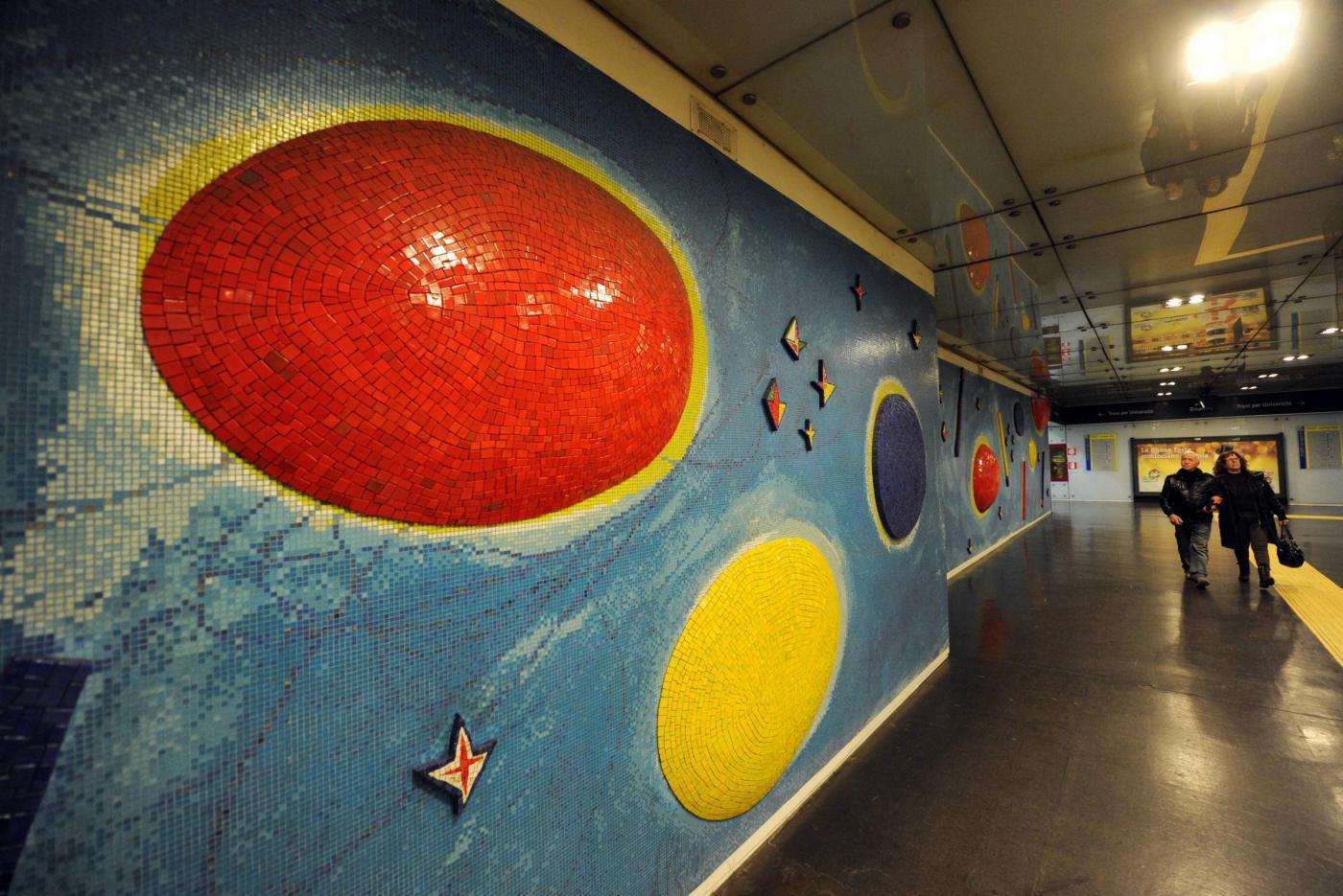 Napoli, le stazioni della metropolitana diventano un museo03