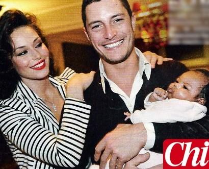 Raffaella Fico insieme al fratello Francesco e la piccola Pia