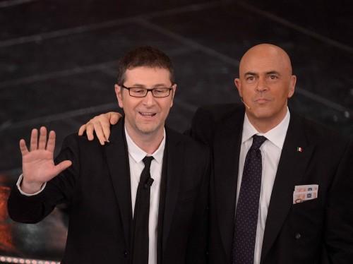 Maurizio Crozza e Fabio Fazio