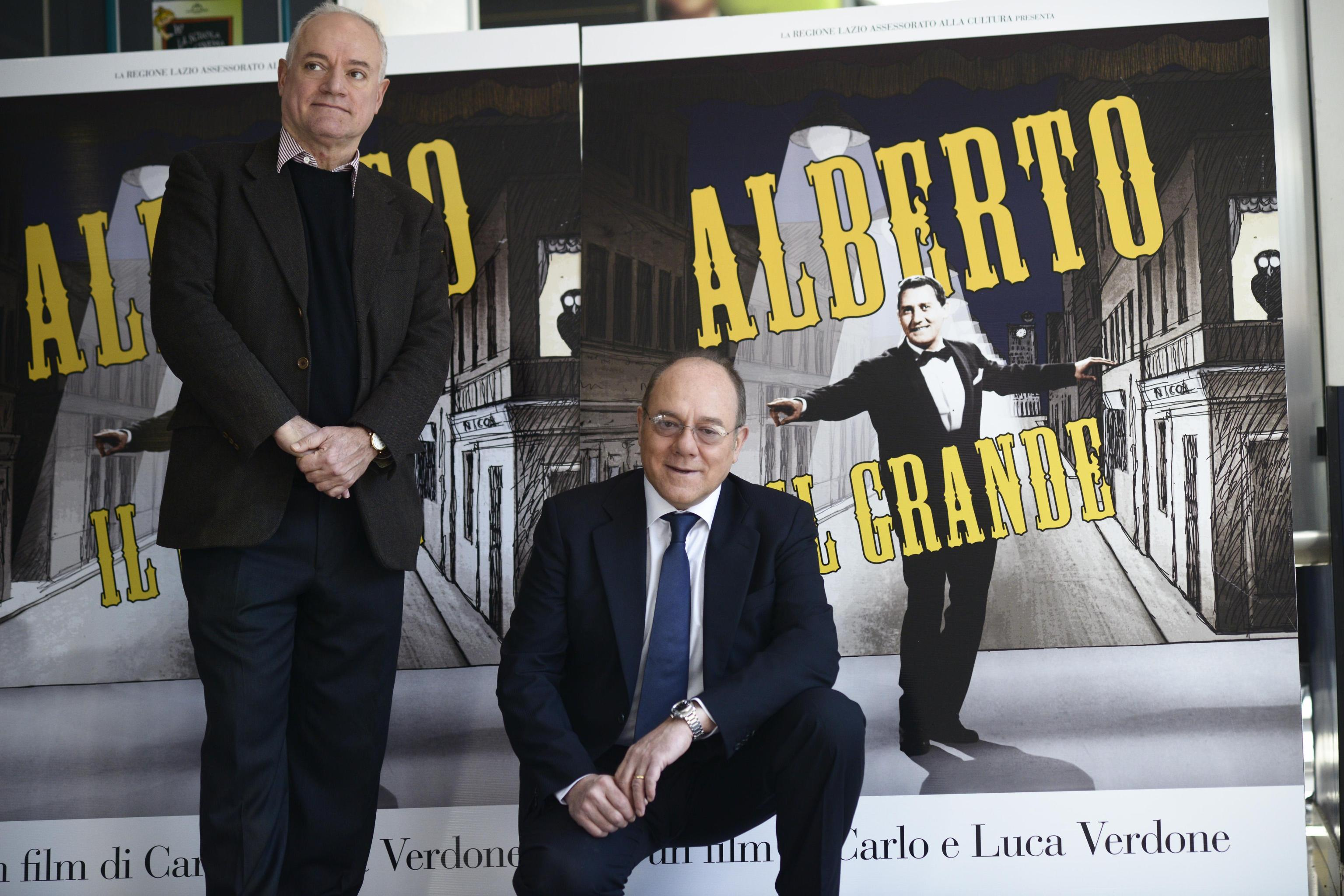 Carlo e Luca Verdone presentano documentario su Alberto Sordi 07