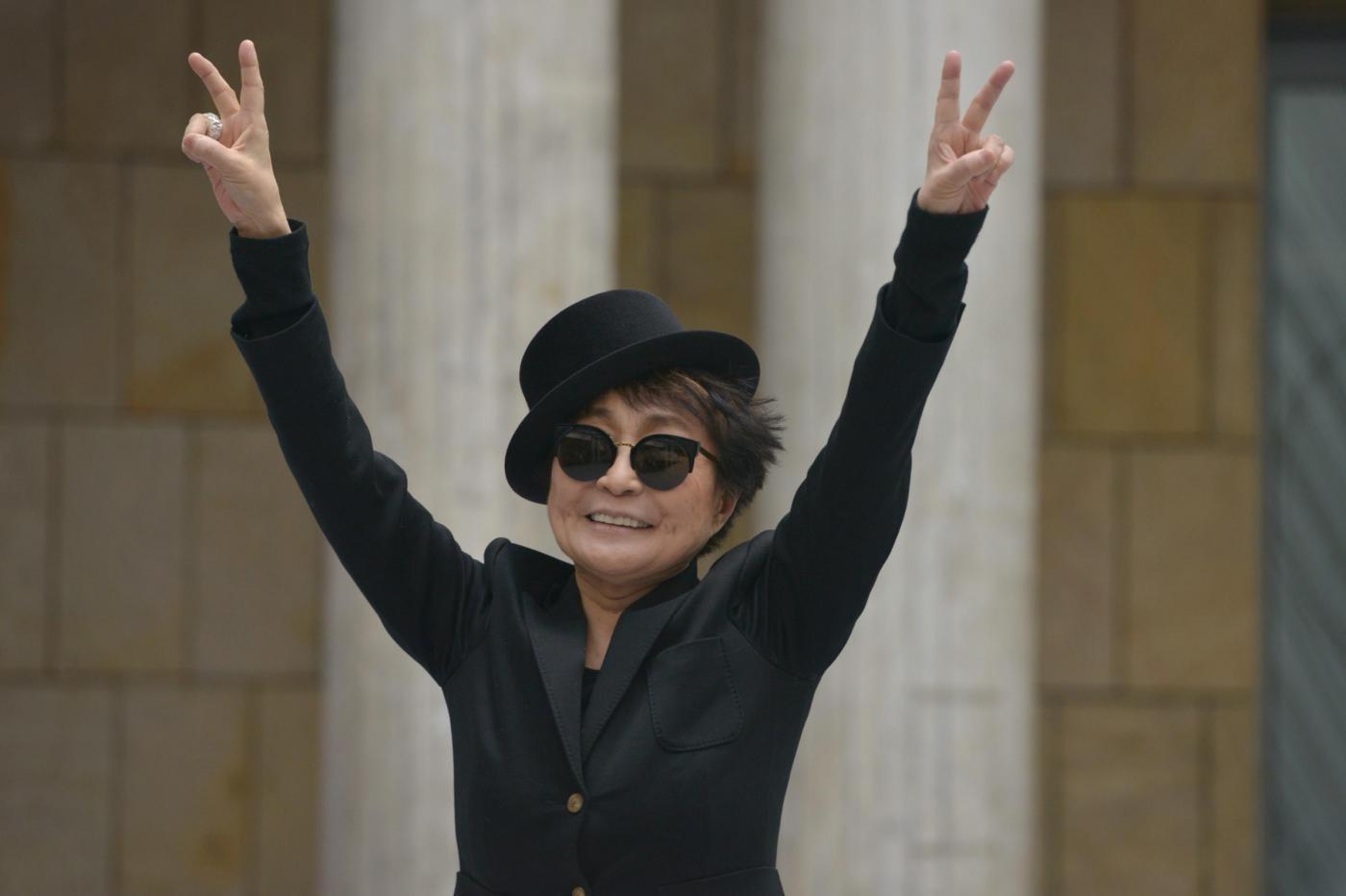 Yoko Ono a Francoforte per una retrospettiva04