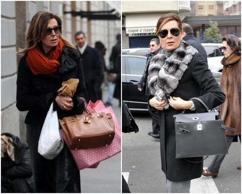 Daniela Santanché con borsa all'avambraccio