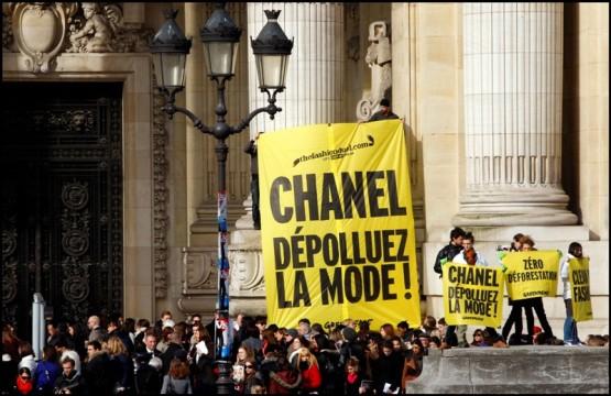 Greenpeace sfida Chanel a duello alla settimana della moda di Parigi06