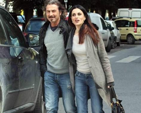 Roma, Rossella Brescia a pranzo con il compagno Luciano Cannito09