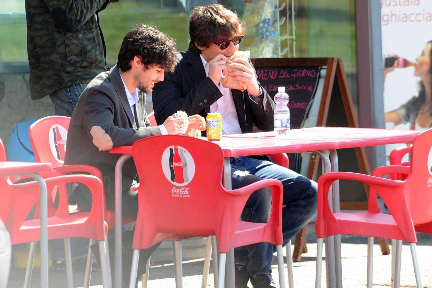 Roma, Simone Corrente e Pablo Espinosa a pranzo04