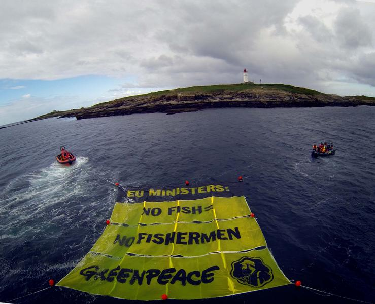 Sustainable Fishing Banner at the Glenans Archipelago