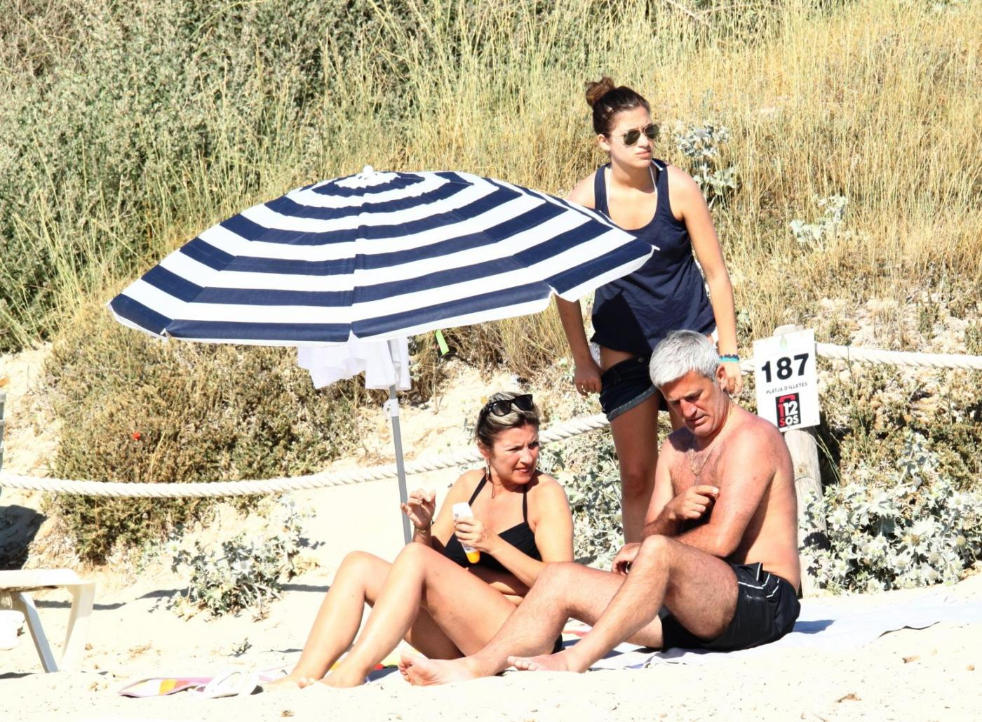 Petkovic in vacanza a Formentera con la famiglia 02