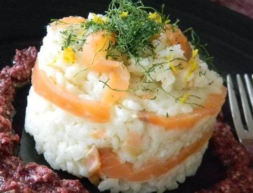 Ricette di primi: risotto al salmone