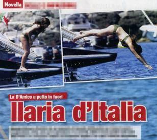 Ilaria D'Amico: topless in vacanza. Foto Novella2000