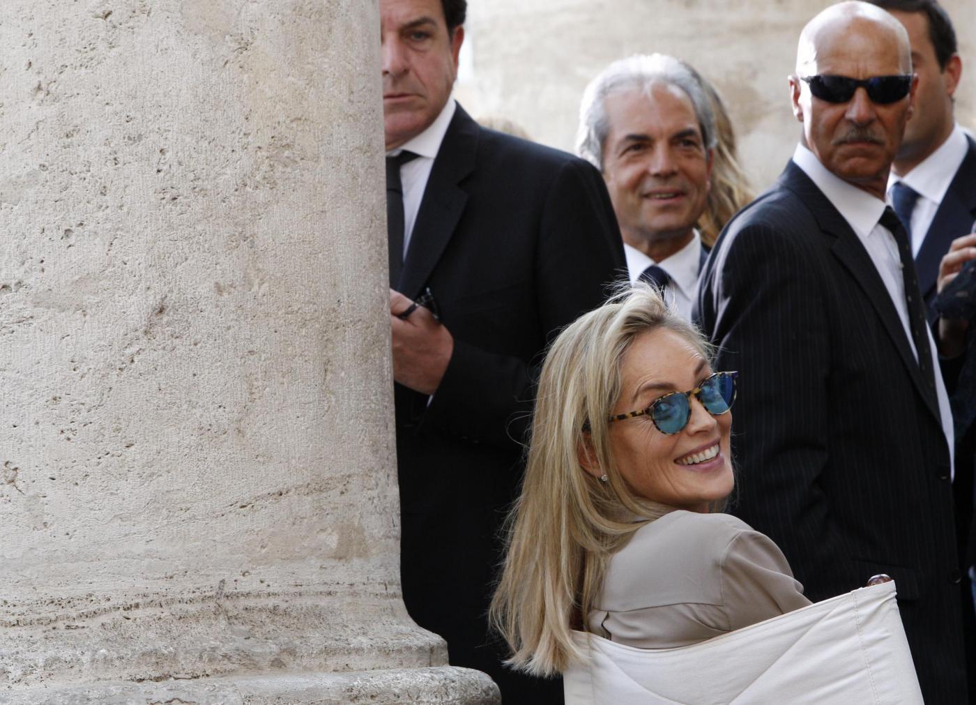 Sharon Stone a Roma per il film di Pupi Avati10