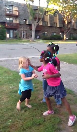 Black girls bully white girl