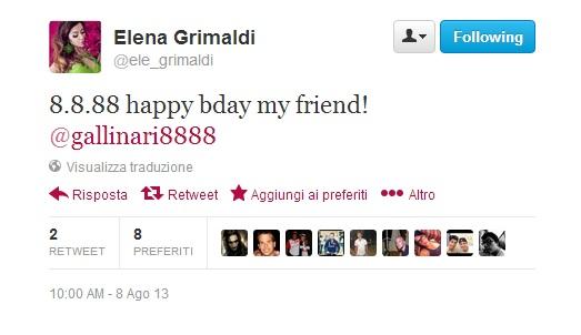 """Elena Grimaldi: """"Danilo Gallinari, auguri"""". """"Grazie"""". Solo a lei?"""