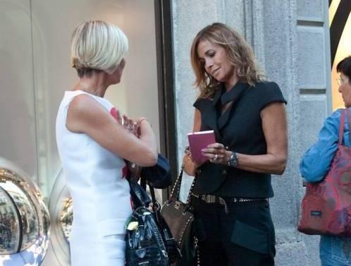 Cristina Parodi, shopping a via Montenapoleone06