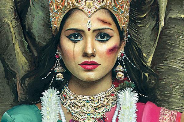 Divinità indù sfigurate: la campagna contro la violenza in India04