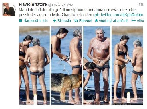 """Flavio Briatore a Roberto Cavalli: """"Sfigato, geloso e rifatto male"""""""