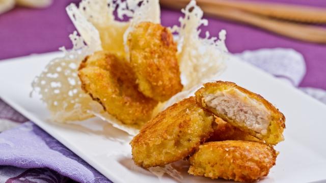 Finger food: bocconcini di pollo in crosta di parmigiano