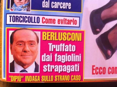 """Silvio Berlusconi, giallo fagiolini 80 euro al Kg: """"Lui preferisce i finocchi"""""""