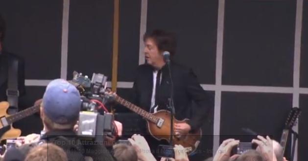 Paul McCartney, concerto a sorpresa a Times Square