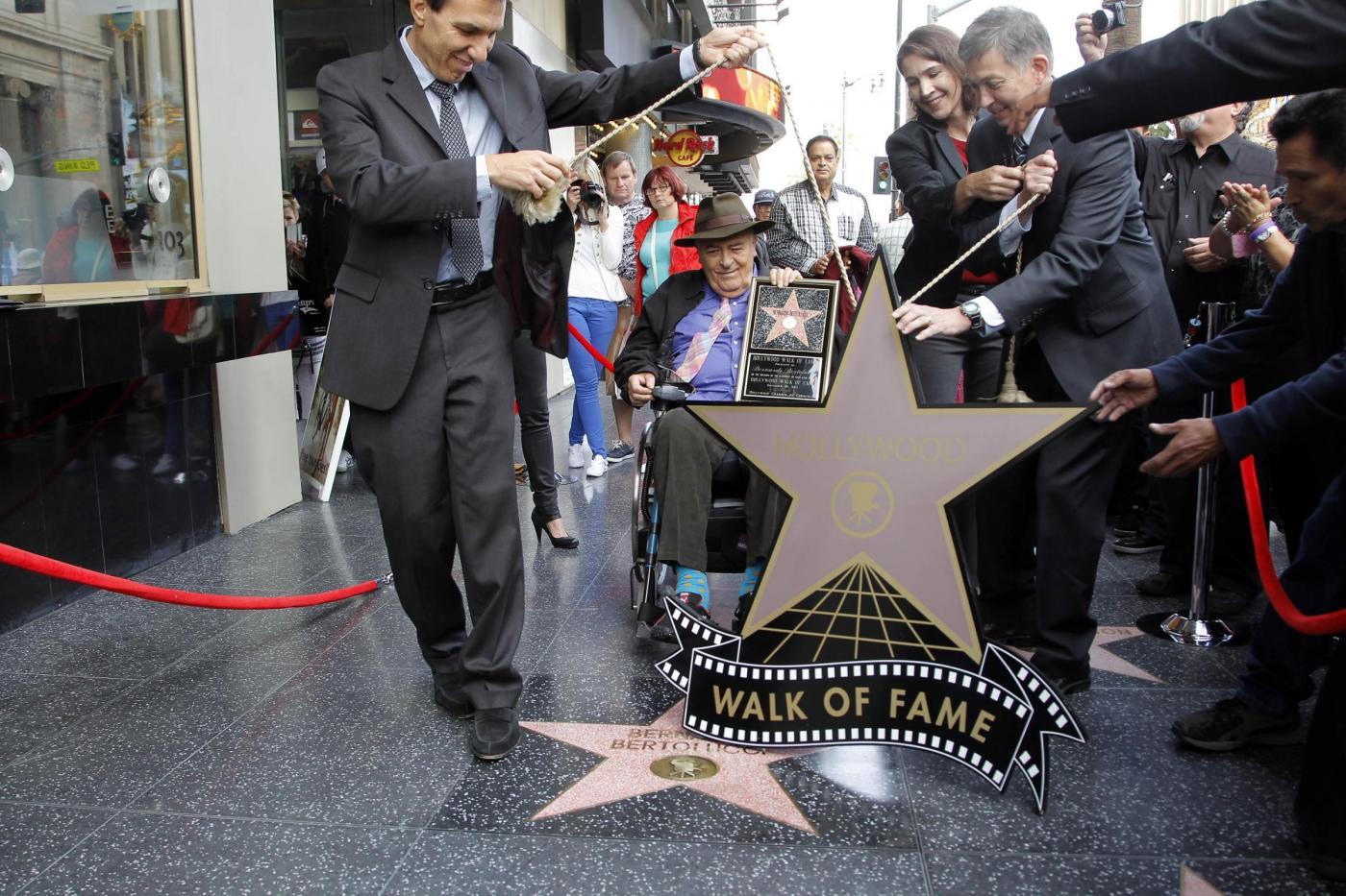 Bernardo Bertolucci onorato sulla Walk of Fame02