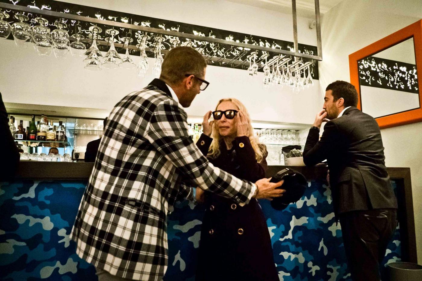 Lapo Elkann, Franca Sozzani all'inaugurazione del negozio di Milano01