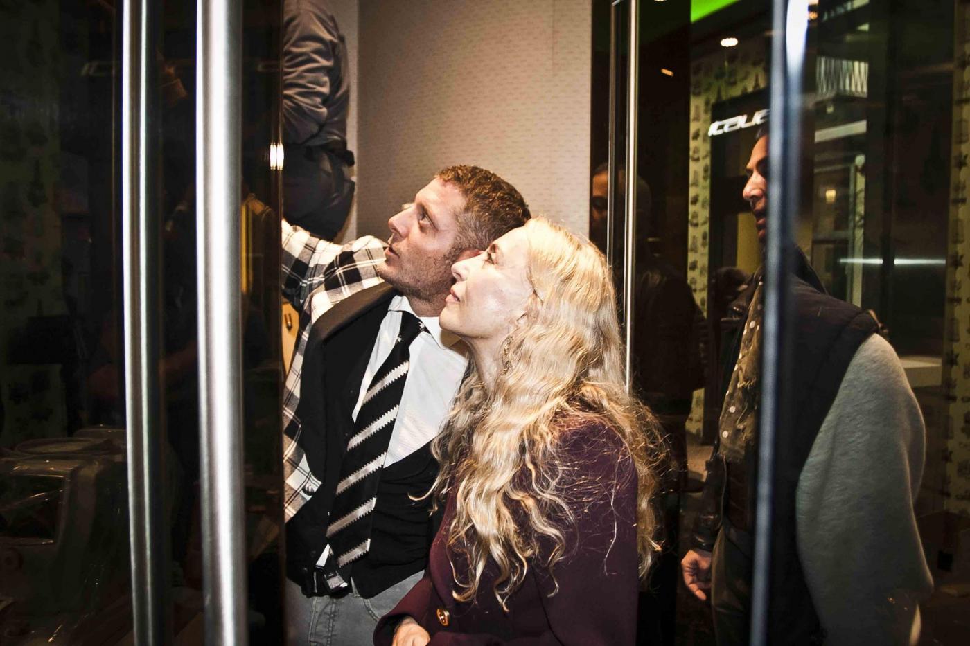 Lapo Elkann, Franca Sozzani all'inaugurazione del negozio di Milano02