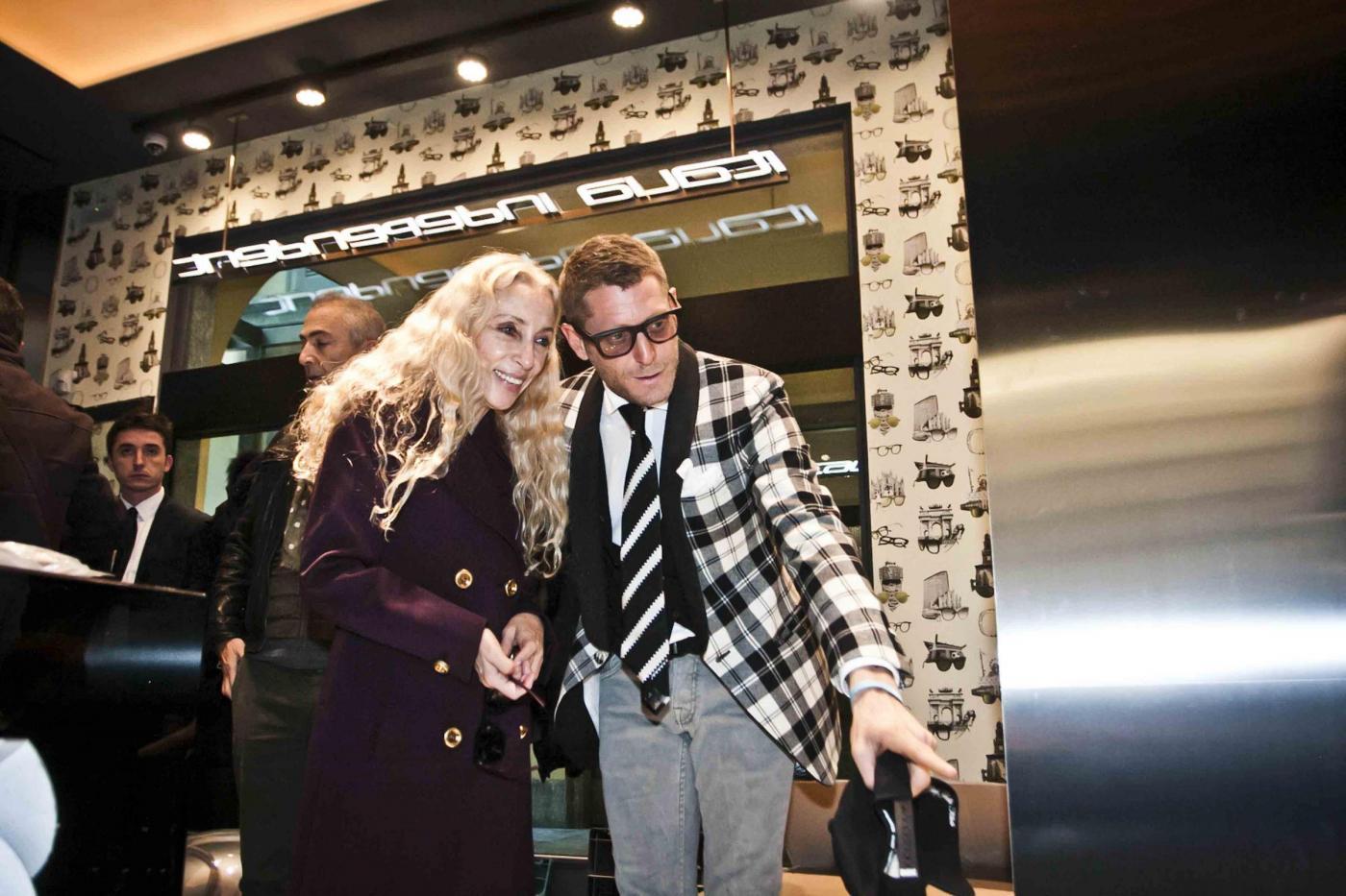 Lapo Elkann, Franca Sozzani all'inaugurazione del negozio di Milano05