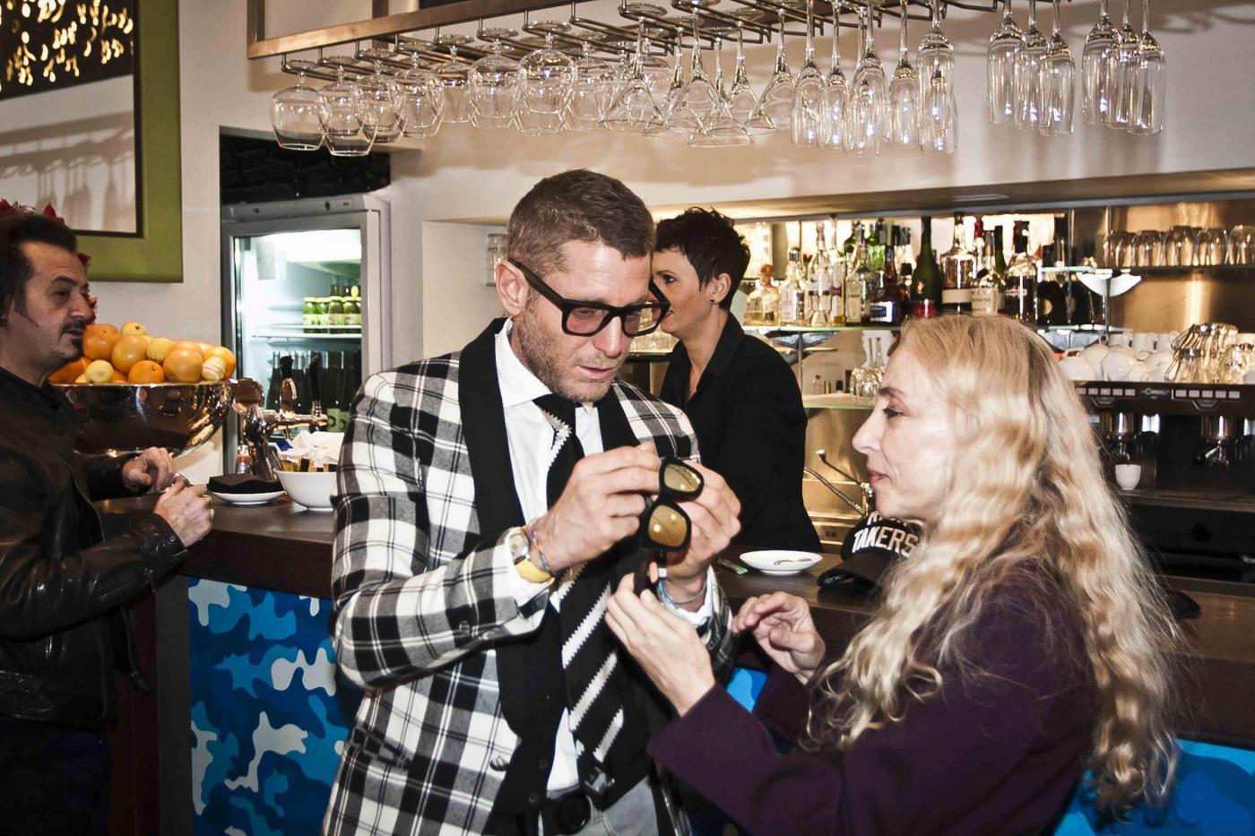 Lapo Elkann, Franca Sozzani all'inaugurazione del negozio di Milano07