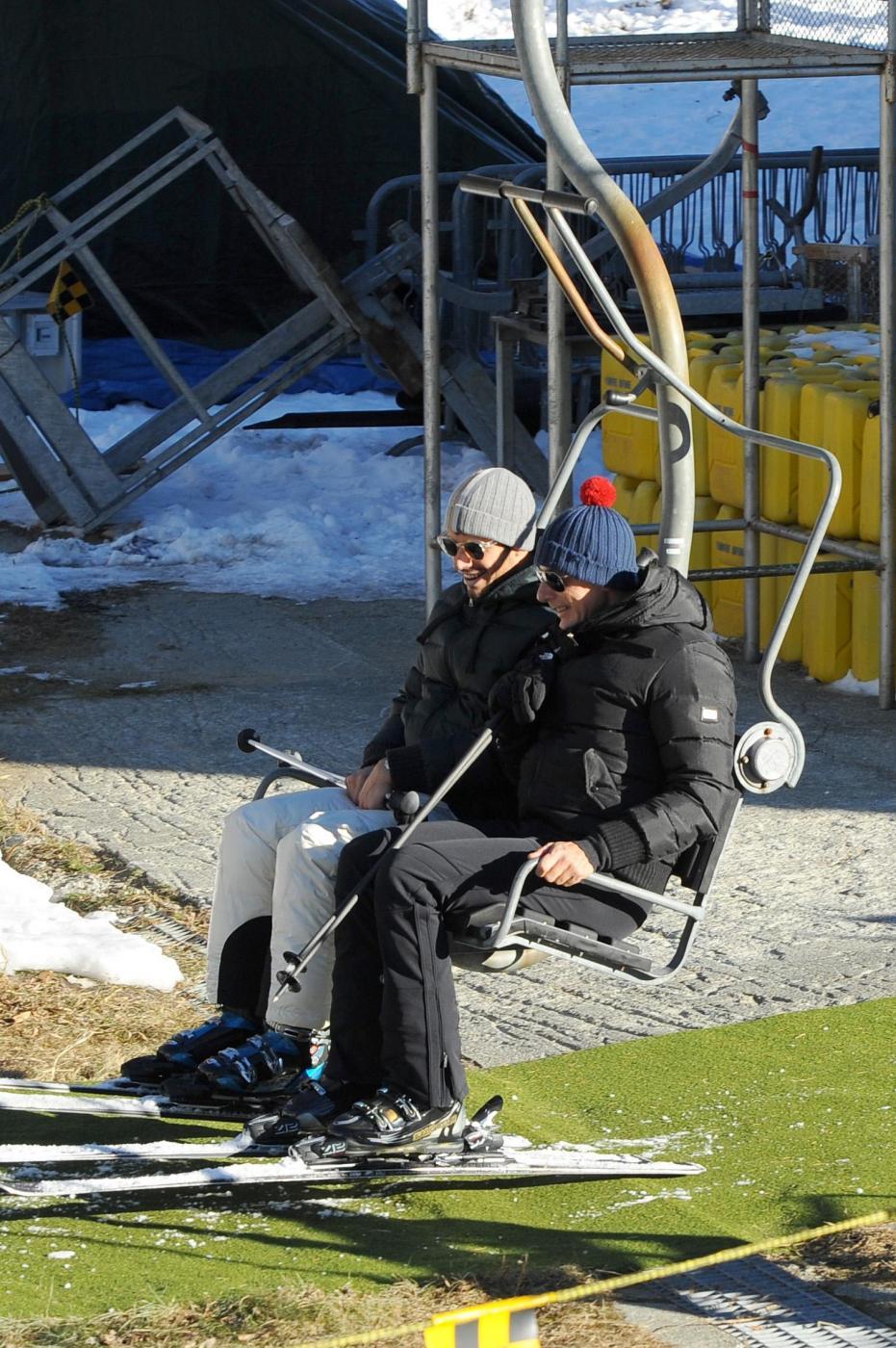 Stefano Gabbana sugli sci a Courmayeur01