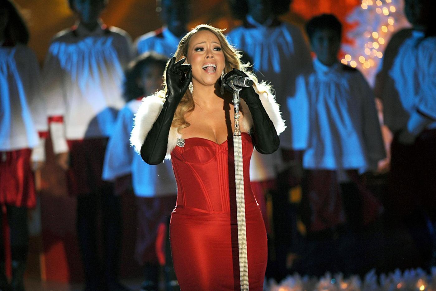 Mariah Carey canta al Rockfeller Center06