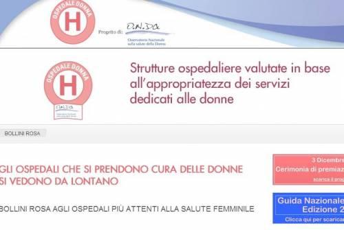 """Ospedali dedicati alle donne: 230 premiati con """"Bollini rosa"""""""