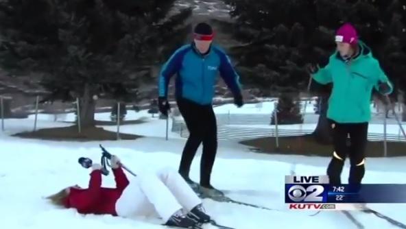 Reporter sviene in diretta
